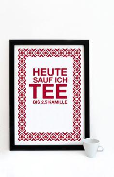Digitaldruck - Druck *Tee 2.5 Kamille* - ein Designerstück von Pap-Seligkeiten bei DaWanda