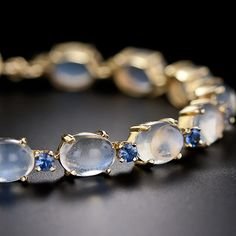 Moonstone and Sapphire Bracelet - 40-1-4058 - Lang Antiques