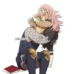 Fire Emblem Fates - Laslow (Inigo) and his daughter, Soleil