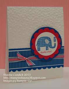 handmade card ... clean and simple design ... two colors and white ... thank-you sentiment ... like the well balanced design and textures from embossing and simple layers ... Stampin' Up!