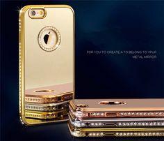 Kristall Diamant Bling Metal Aluminium Rahmen Stilvoll Design Speziell für Apple iPhone 6/6S/6plus/6S plus - Prima-Module.Com
