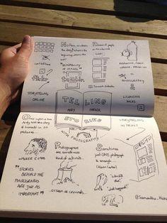 Loose, gruff #sketchnote on #storytelling.