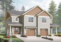 Craftsman Multi-family Plan 65559