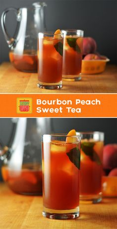 Bourbon Peach Sweet Tea #SundaySupper