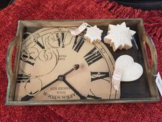 New! Tray & Sugar Cookie Candles