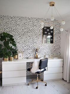Home Office Decor Inspiration is no question important for your home. Whether you choose the Home Office Decor Inspiration or Home Office Design Modern, you will create the best Modern Home Office Design for your own life. Home Office Design, Home Office Decor, Home Design, Office Designs, Desk Office, Office Furniture, Office Inspo, Design Ideas, Ikea Furniture