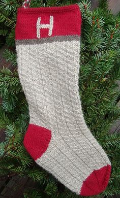Perfect for last-minute holiday knitting, the Rustic Stocking can be completed in a couple days by a motivated knitter. It is easily customized by knitting or embroidering images, names, or initials into the top (red) section.