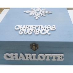 Look at this beautiful Christmas Eve box! You could get one of our popular plain… Wooden Christmas Eve Box, Personalised Christmas Eve Box, Diy Christmas Gifts, Family Christmas, Christmas Projects, Vintage Christmas, Christmas Wreaths, Christmas Ideas, Xmas Eve Boxes