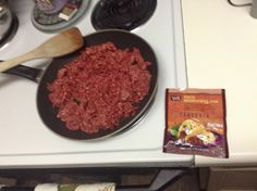 Fresh ground beef for taco salad!