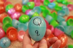 Great, simple upper & lowercase letter matching game, using Easter eggs!