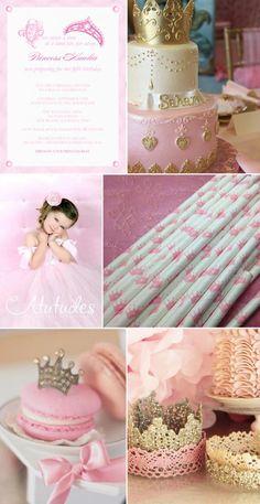 Princess Party Inspiration #pink #birthday #party #princess