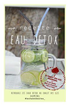 affiche - communication visuel recette - eaux detox  au Chalet des îles Daumesnil