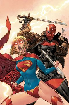 Supergirl and Red Hood by Guillem March