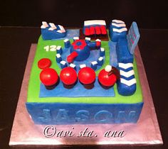 """Potential """"Wipeout"""" cake for Zach's wipeout b-day party"""