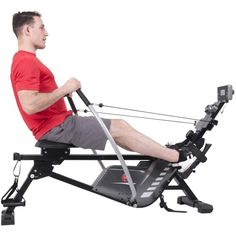 Body Power BRW5816 3-IN-1 Conversion Rowing Machine With Strength Resistance Cable Training