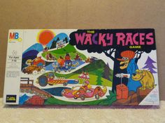 Wacky Races Board Game by Milton Bradley -1960's (Based on Saturday Morning Cartoon series)