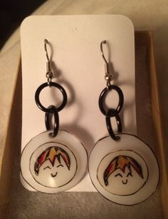 Adorable Happy Smiling Face Earrings by inthespicerack on Etsy