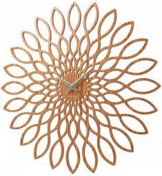Karlsson Wood Sunflower Clock