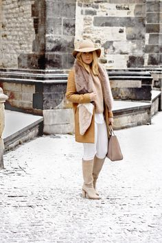 TONAL STYLING White Outfits, My Size, Stylus, Faux Fur, Fashion Inspiration, Gucci, Women's Fashion, Beige, Autumn