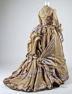 Dinner Dress 1878, French, Made of silk