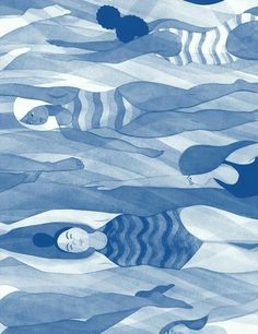 i-love-art: Eleni Kalorkoti Illustration for Bitch magazine's issue, accompanying Meisha Rosenberg's article 'Making Waves: The Slow Crawl Toward Making Swimming More Inclusive' Art Inspo, Art Amour, Art Et Illustration, Art Design, Oeuvre D'art, Love Art, Illustrations Posters, Illustrators, Art Paintings