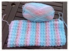 mine has got to be blankets and afghans, the problem is they can take a while to make. Crochet 101, Love Crochet, Crochet Yarn, Crochet Afghans, Crochet Stitches, Crochet Ideas, Knitted Baby Blankets, Baby Blanket Crochet, Baby Afghans