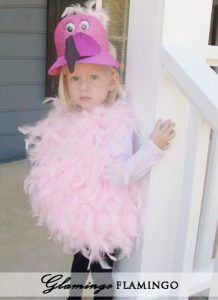 Glamourous Flamingo costume made from products from DollarTree.com