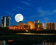 Fort Worth Skyline at Night.  Tell me dear, does Fort Worth ever cross your mind?