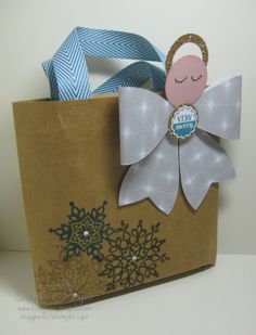 Angel_Gift_bag_Magpiecreates Day 19 of A Month of Christmas at www.magpiecreates.com