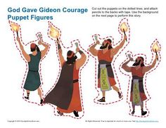God Gave Gideon Courage Color by Number - Children's Bible ...  Gideon