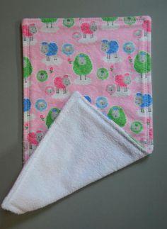 Burp Cloths  Baby Girl Burp Cloth Shower Super by SevenSeasStudios