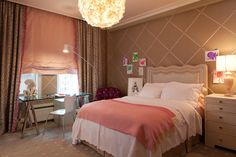 Posh Bedroom Ideas for Young Adults in Simplicity Concept: Astonishing Modern Kids Bedroom In Bedroom Ideas For Young Adults With Pink Pillo...