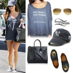 Lucy Hale: 'Not Crazy' Sweater, Printed Slip-Ons