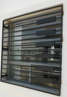 Pin By Nofall Taresh On Steel Stairs Ventanas Modernas Window Grill Design Modern, Grill Door Design, Balcony Grill Design, Facade Design, Fence Design, Window Design, House Design, Iron Windows, Iron Doors