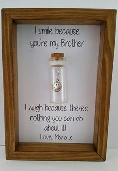 Gift for brother Brother birthday Funny brother gift. Can be Gift for brother Brother birthday Funny brother gift. Christmas Gifts For Brother, Birthday Gifts For Brother, Diy Christmas Presents, Funny Birthday Gifts, Dad Birthday, Funny Gifts, Brother Gifts, Birthday Ideas, Birthday Message