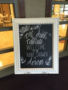 Baby Shower Chalkboard Sign To Baby Shower I