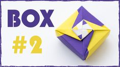 Origami Box Tutorial. Paper Box. #2
