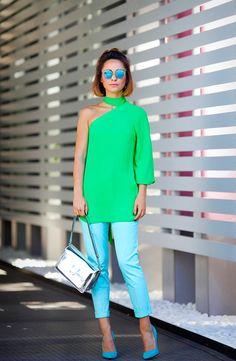 с чем носить зеленый цвет