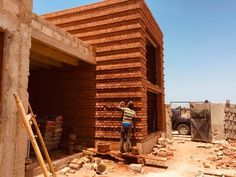 This article will discuss what interlocking bricks are, the advantages and disadvantages of using them and whether they are good for construction. - click for 3 min read Construction Sector, Brick Construction, Cement, Concrete, Wattle And Daub, Interlocking Bricks, Thermal Comfort, Casamance, Porous Materials