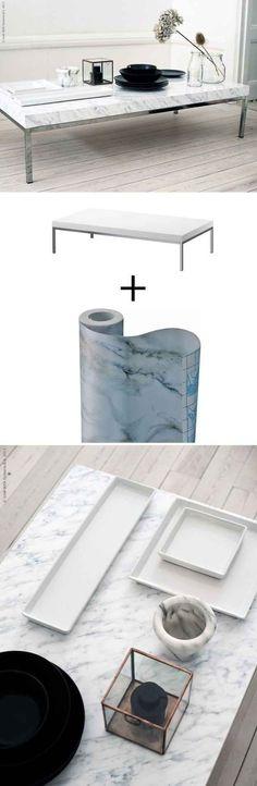 Après des années de désuétude, le marbre est de retour en force en décoration intérieure. Particulièrement le blanc, veiné de noir. Cette matièreajoute to