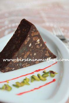 kestaneşekerli, damla çikolatalı, tarçınlı mozaik pasta (birsence)