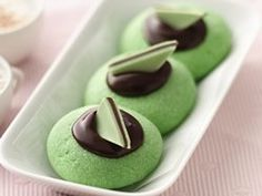 Chocolate-Mint Thumbprints. Don't use butter in the chocolate filling. Use 4T heavy cream and 3/4 cup dark chocolate chips. Bake for exactly 12 minutes - no longer. Delicious!