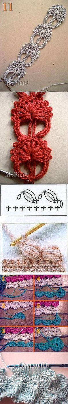 Красивые стежки для вязания крючком...♥ Deniz ♥