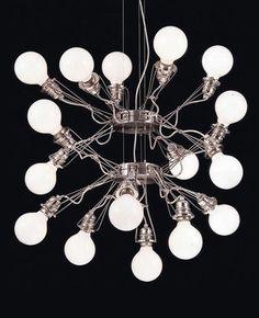 Matrix Doppia chandelier by Yaakov Kaufman #modernlighting #chandeliers