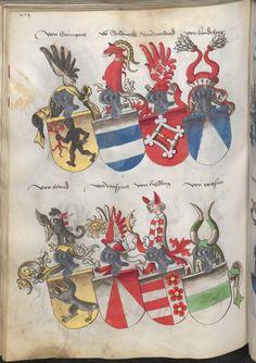 Grünenberg, Konrad: Das Wappenbuch Conrads von Grünenberg, Ritters und Bürgers zu Constanz um 1480 Cgm 145 Folio 279