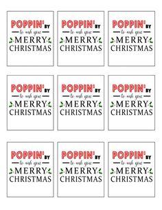 Poppin' By To Wish You Merry Christmas Printable - South Lumina Style School Christmas Gifts, Wish You Merry Christmas, Neighbor Christmas Gifts, Neighbor Gifts, Christmas Ideas, Xmas, Santa Gifts, Father Christmas, Christmas Stuff