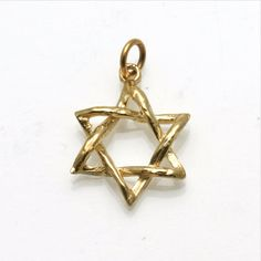 The perfect Magen David, just the right size, beautifully made. 14k yellow gold Woven Star of David Pendant