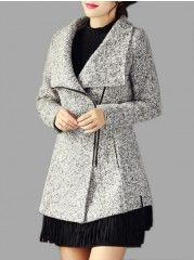 Designed With Pockets Lapel Overcoats