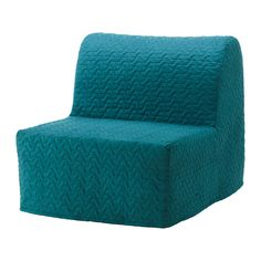 IKEA LYCKSELE MURBO Chair-bed Vallarum turquoise Comfortable and firm foam mattress for use every night. Ikea Futon, Cama Ikea, Chair Bed Ikea, Futon Chair, Sofa Beds, Wooden Futon, Metal Futon, Leather Futon, Bed Covers Ikea