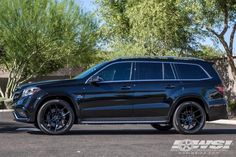 2017 Mercedes-Benz GLS/GL-Class in Giovanna Wheels by Wheel Specialists, Inc. in Tempe AZ . Click to view more photos and mod info. Mercedes Benz Gl Class, Mercedes Benz Cars, My Dream Car, Dream Cars, Custom Mercedes, Sport Suv, Car Wheels, Strong Quotes, Future Car